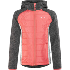Meru Prag Knitted Fleece & Padded Jacket Kids carbon/pink